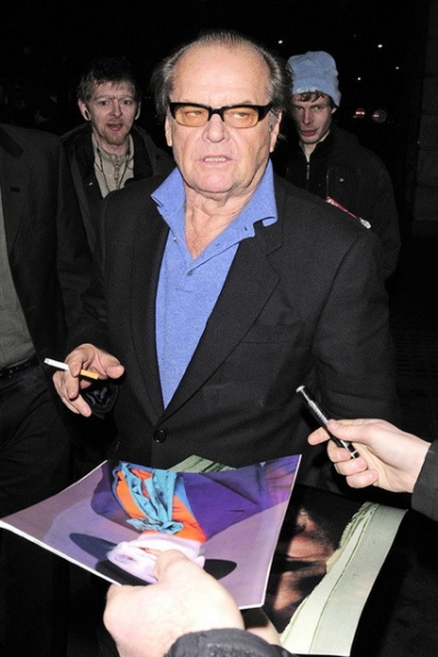 Jack Nicholson giving an autograph